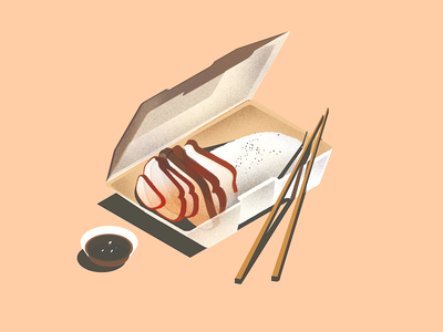 peking duck chinese illustration isometric peking duck food inktober roasted