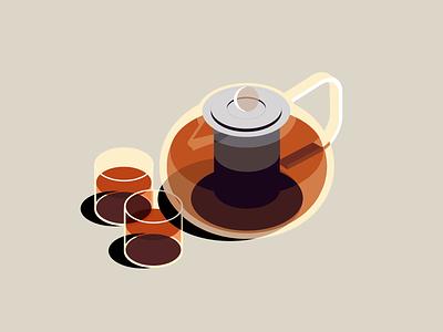 tired. need tea. exhausted inktober illustration tea teatime