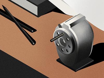 pencil eater pencil sharpener vectober inktober2018 inktober