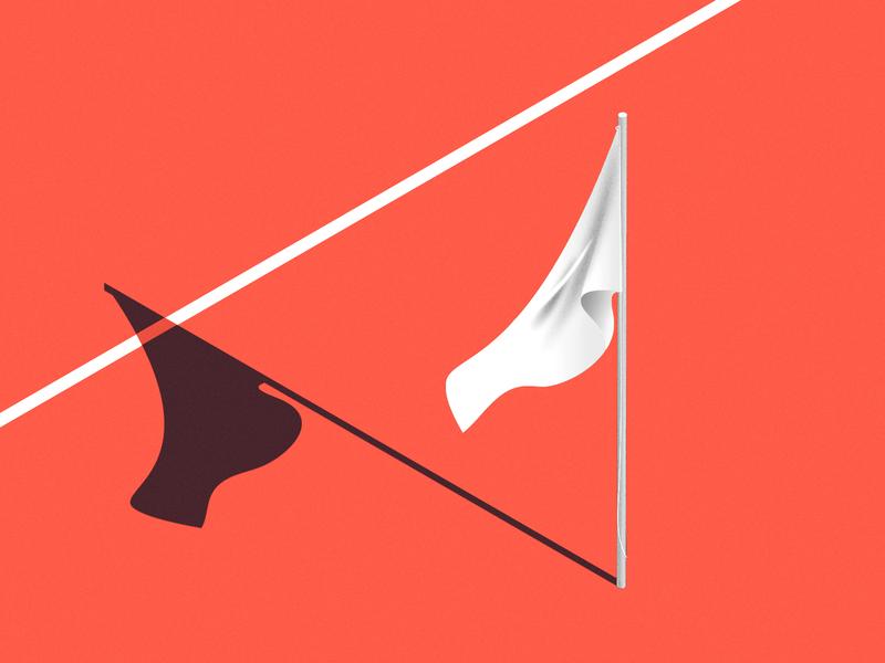 surrender! vectober inktober 2018 inktober flag day isometric illustration isometric surrender flag