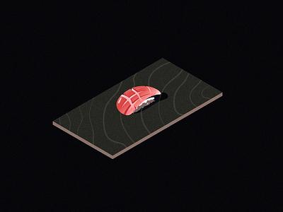 expensive isometric illustration isometric sushi expensive tuna toro