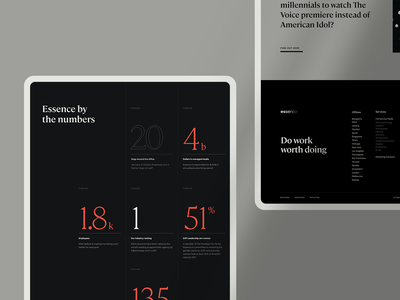 Essence Statistics Module essence internet typography layout website ui