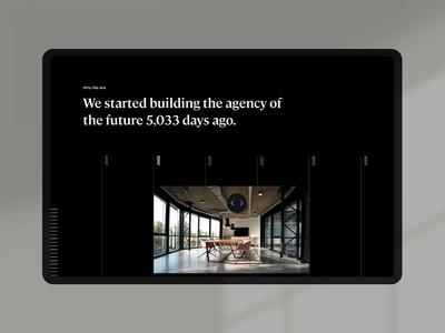 Essence Timeline Module motion essence internet typography layout website ui