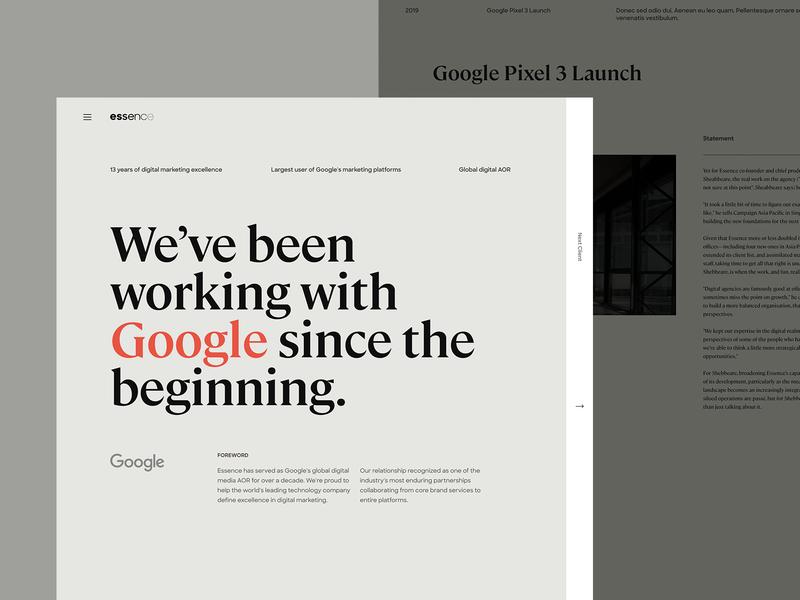 Essence Case Study essence internet typography layout website ui