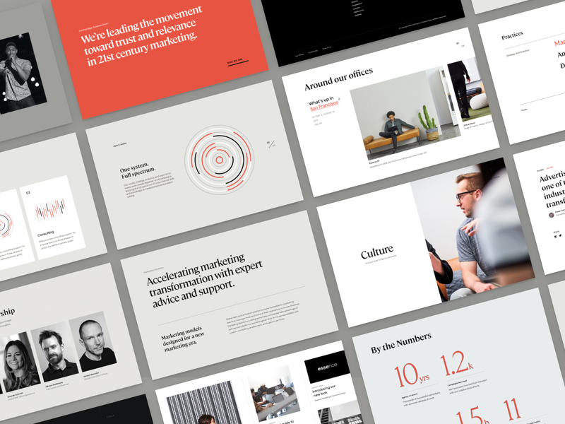 Essence Components essence internet typography layout website ui
