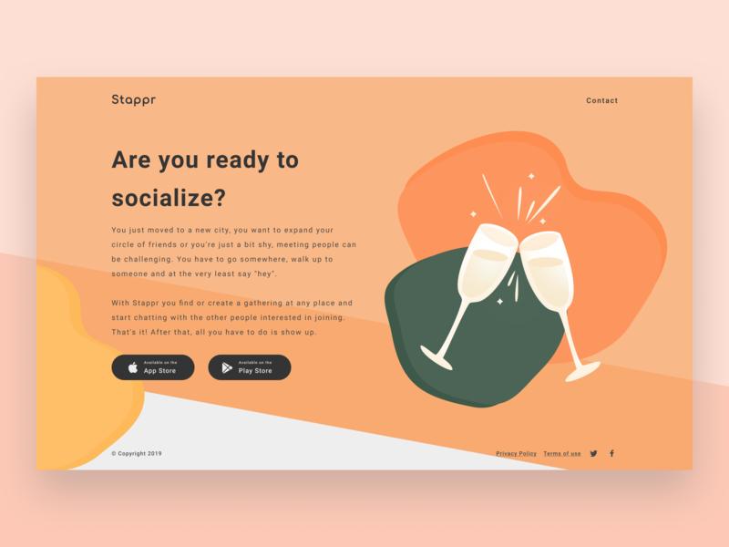Stappr - Download Page web design website social social app shapes ios app download illustrations ui illustration