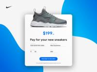 Nike Air Huarache promo website checkout form