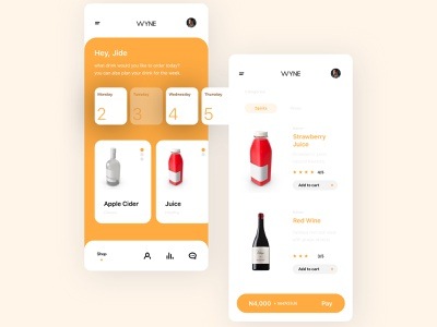 Wynne App Mockup ux process screen design interface design ui  ux design