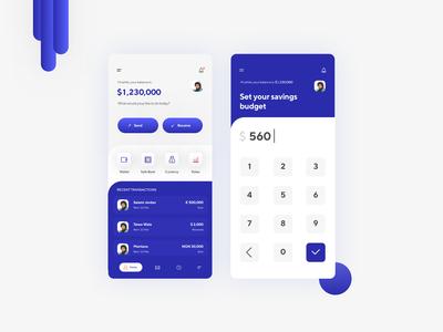 Bank App Screens