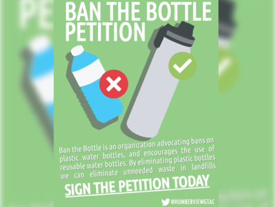 ban the bottle poster