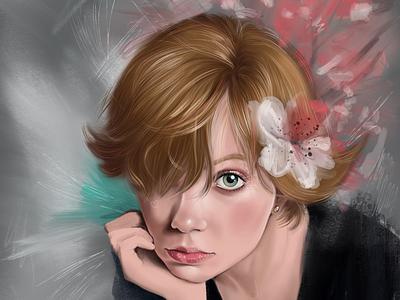 Digital paint illustration digital paint retrato portrait digital art procreate