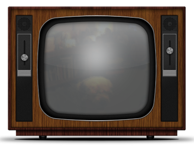 Retro Wooden Television with Metal Sliders