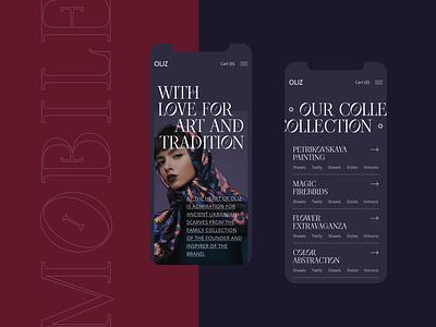 Oliz Store adaptive ukraine fashion modern modern culture shop fashion ux design ux design web design uxdesign uidesign ui  ux uiux ui design ui