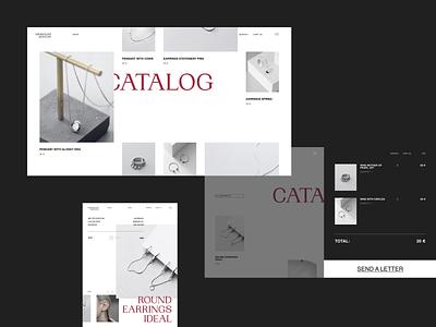 Minimalist Jewelry fashion grid minimalist jewelry minimal catalog cart tablet ux  ui uxui web design ux design uxdesign ux uiux uidesign design ui  ux ui design ui