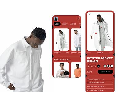 ZNWR mobile ui look shoping ecommerce ecommerce design fashion app fashion shop e-commerce ux design uxdesign ux uiux uidesign design ui  ux ui design ui