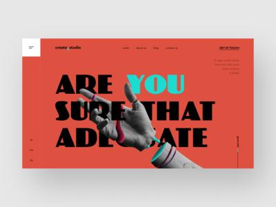 Create Studio // Web Concept