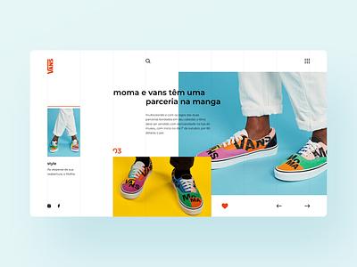 Vans | Web Concept concept website grid trend sneakers sneaker vans ux  ui uxui web ux design ux design web design uxdesign uidesign ui  ux uiux ui design ui