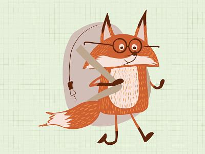 fox procreate illustration