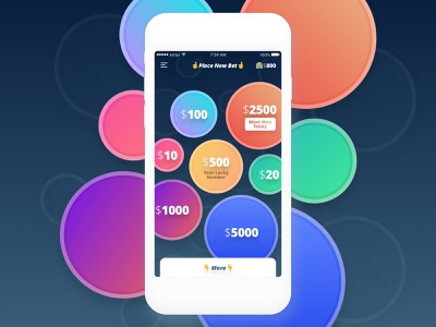 Bet Set Go!!! mobile adrenaline mini game game bet money android ios design ux app ui