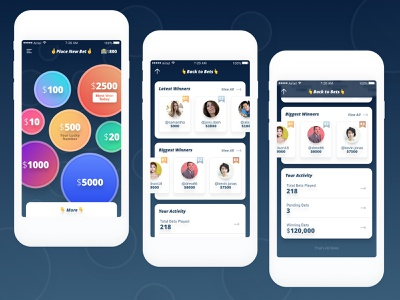 Mobile game/app gratification instant game mobile rush adrenaline android ios app ui design ux