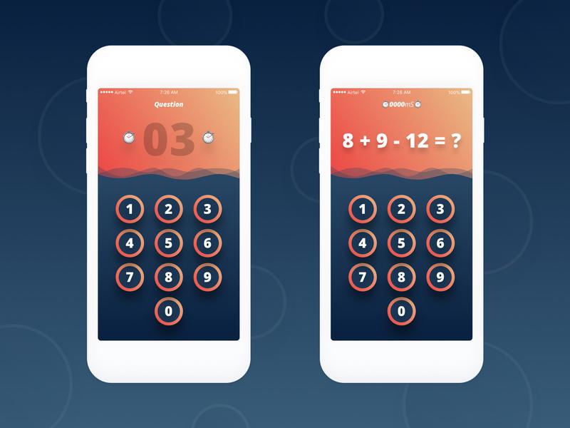 Mobile game/app adrenaline count instant impulse gratification game bet data money ios android grid illustration app ux minimal design ui
