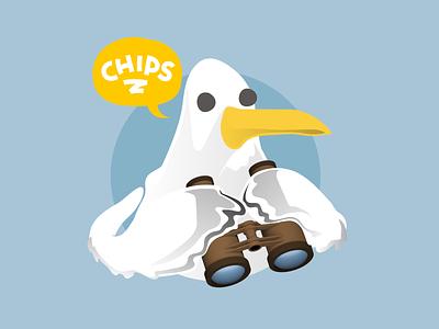 Brighton Folk - seagull illustrations vector illustration design