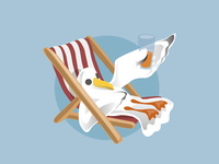 Brighton Folk - seagull illustrations