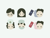 Avatars for the healthcare experience journey map