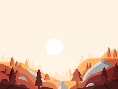 🌄 Sunset in [...]? 🌄 illustration brightness warm fall sun the bird is the word birds sunset woods tent forest alexpasquarella