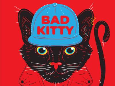 BAD KITTY illustration cat cool bestial animal kitty