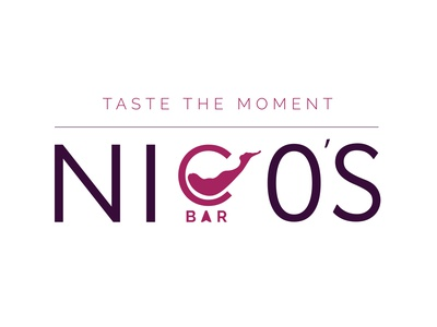 Nicos Bar - New logo design creative illustration vector flat logo logo design typography brand modern branding