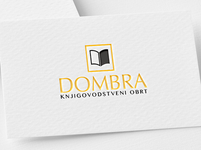 Logo Design - Dombra black and gold typography company book accounting creative logo design modern logo branding