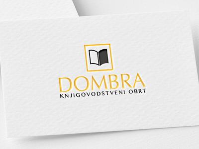 Logo Design - Dombra black and gold typography company book accounting creative logo design modern logo branding