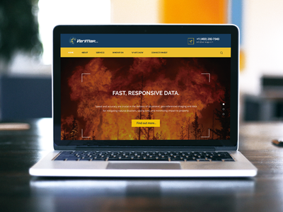 Web Development - Verimap Inc service blue and yellow blue mapping fire drone aircraft web development web design brand