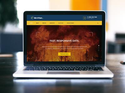 Web Development - Verimap Inc service blue and yellow blue mapping fire drone aircraft web development web design brand