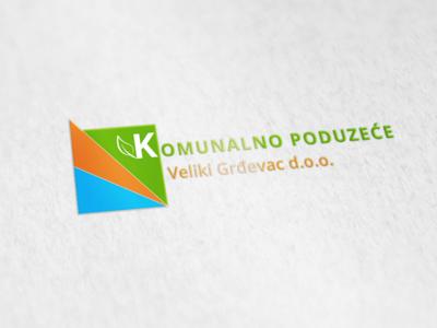 Logo Design - Komunalno poduzeće Veliki Grđevac illustration typography modern brand public blue orange green company utility logo design