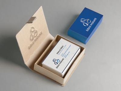 Business card - Šiško poduke promo material school education card business card psd business card blue and white blue brand branding
