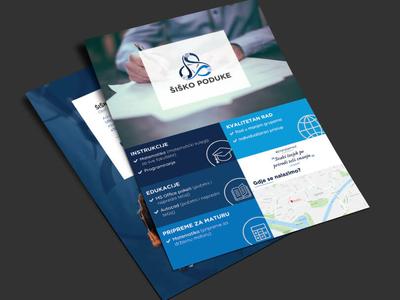 Flyer design - Šiško poduke illustration flyer education flyer designs flyer bundle shades of blue flyer artwork flyer design brand branding