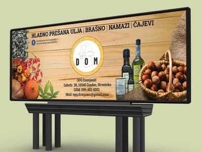Trade show design - DOM table cover fruit package homemade hazelnut banner panel trade show illustration branding