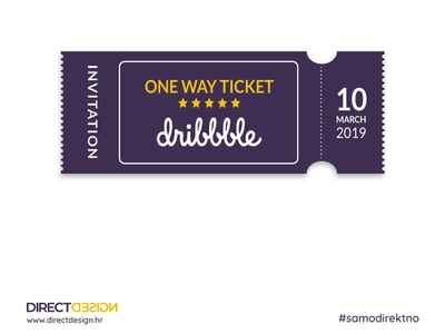 Giveaway - Dribbble Invite dribbble invite invitation ticket dribbble debut pozivnica invite dribbble