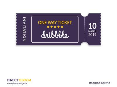 Giveaway - Dribbble Invite dribbble invite invitation ticket dribbble debut pozivnica invite dribbble