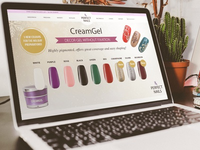 Webshop Development - Perfect Nails shop flat modern purple pink beauty nails web development webshop web design