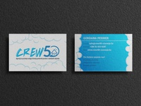 Business card design - Crew50 house blue and white cleaning company modern flat clean cleaning flyer business card graphic design branding