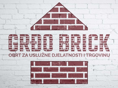 Logo design - Grđo brick brand illustration vector modern typography grafitti old school red logo business logo brick wall brick logo design branding