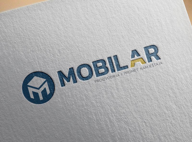 Logo design for Mobilar vector furniture design logo rebranding clean illustration flat logo typography logo design brand branding