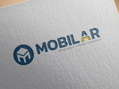 Logo design for Mobilar vector furniture design logo rebranding clean illustration flat logo typography logo design brand branding