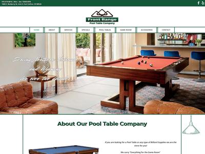 Front Range Pool Table Company Design