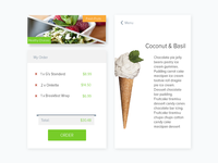UI Components for ordering app
