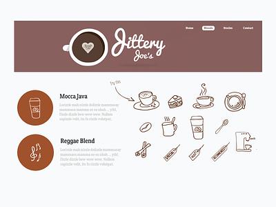 Coffee Shop coffee doodles components ui