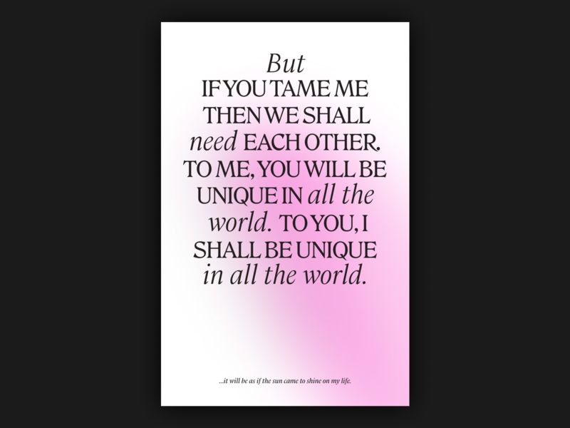 Tame typography graphic design the little prince le petit prince tame poster